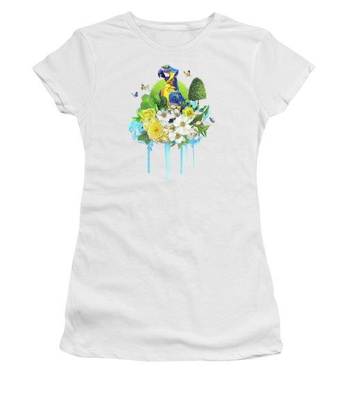 Floral Parrot Women's T-Shirt