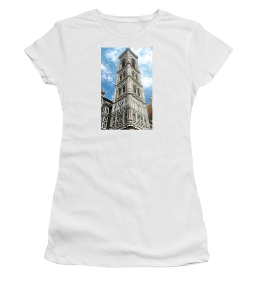 Florence Duomo Tower Women's T-Shirt (Athletic Fit)