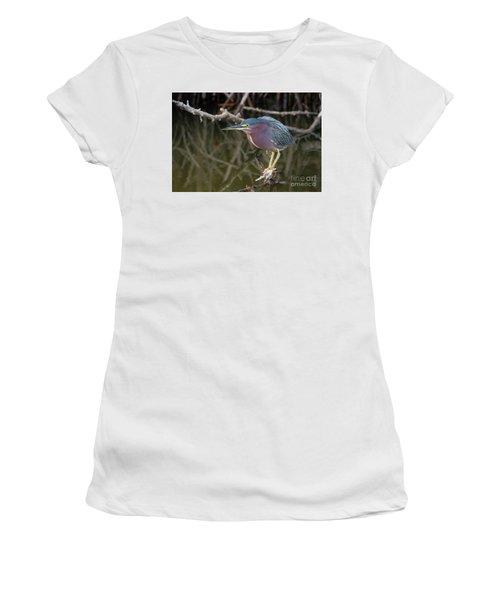 Florida Green Heron Women's T-Shirt (Athletic Fit)