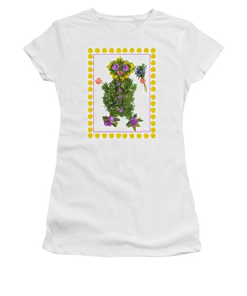 Flower Baby Women's T-Shirt (Junior Cut) by Lise Winne