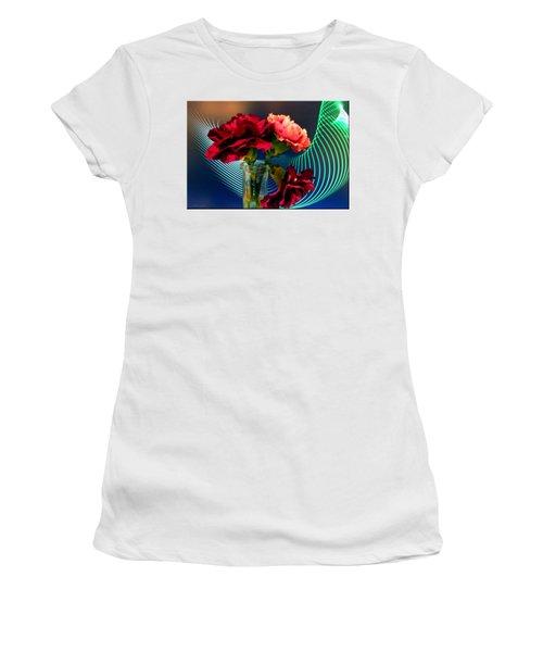 Flower Decor Women's T-Shirt (Junior Cut) by Mikki Cucuzzo