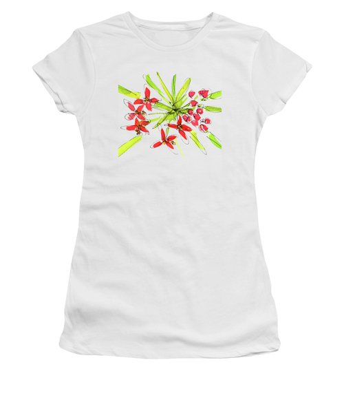 Flower Star By Kmcelwaine Women's T-Shirt (Athletic Fit)
