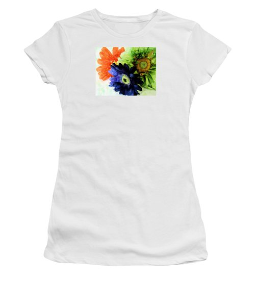 Flower X Three Women's T-Shirt (Athletic Fit)