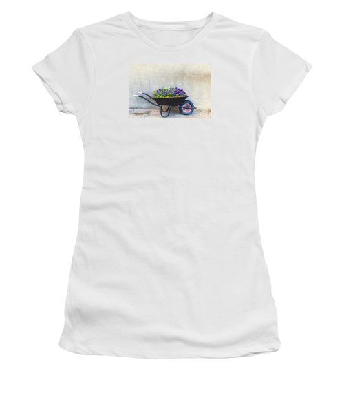 Flowers In A Wheelbarrow Women's T-Shirt (Athletic Fit)