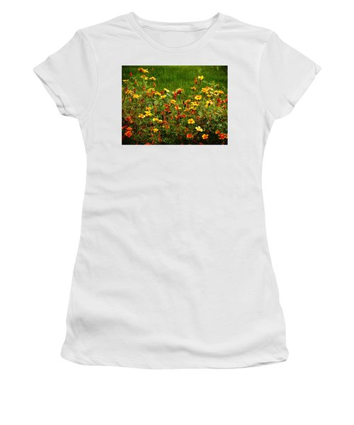 Flowers In The Fields Women's T-Shirt (Athletic Fit)