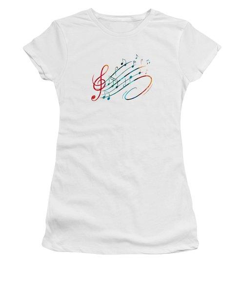 Fluid Depths Alcohol Ink Abstract Women's T-Shirt (Junior Cut) by Nikki Marie Smith