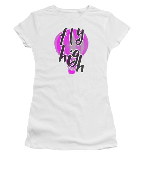 Women's T-Shirt featuring the digital art Fly High by Judy Hall-Folde