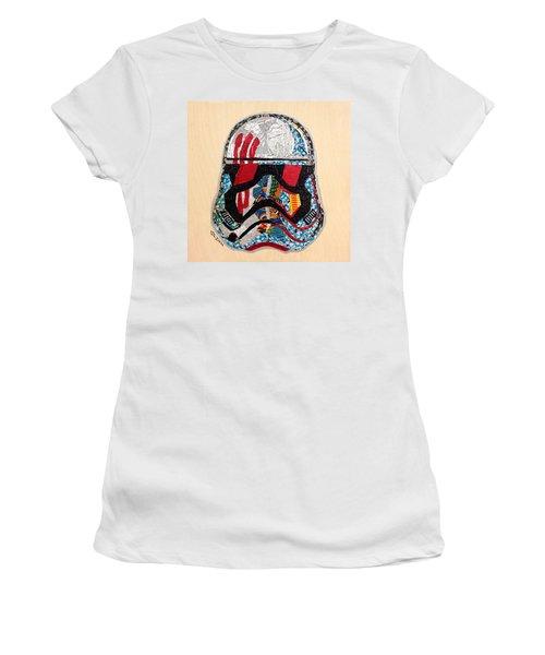 Storm Trooper Fn-2187 Helmet Star Wars Awakens Afrofuturist Collection Women's T-Shirt