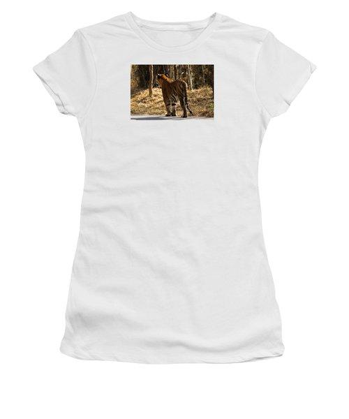 Women's T-Shirt (Junior Cut) featuring the photograph Focused by Ramabhadran Thirupattur