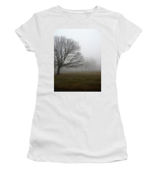 Women's T-Shirt (Junior Cut) featuring the photograph Fog by John Scates