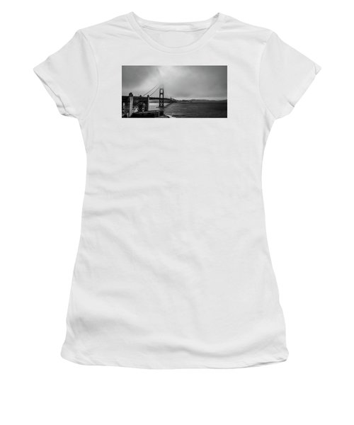 Fog Over The Golden Gate Bridge Women's T-Shirt