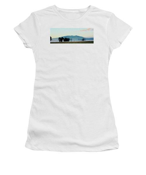 Foggy Field Women's T-Shirt (Athletic Fit)