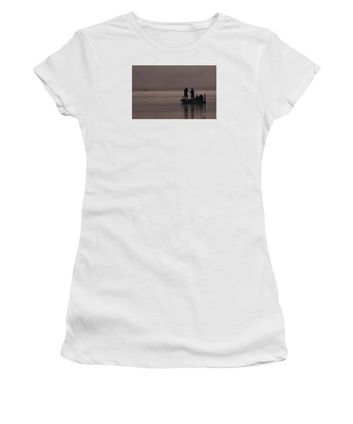 Foggy Fishing Women's T-Shirt