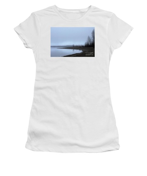 Women's T-Shirt (Junior Cut) featuring the photograph Foggy Water by Victor K
