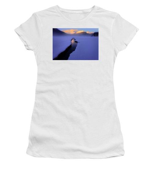 Foggy Winter Days In Banff Women's T-Shirt