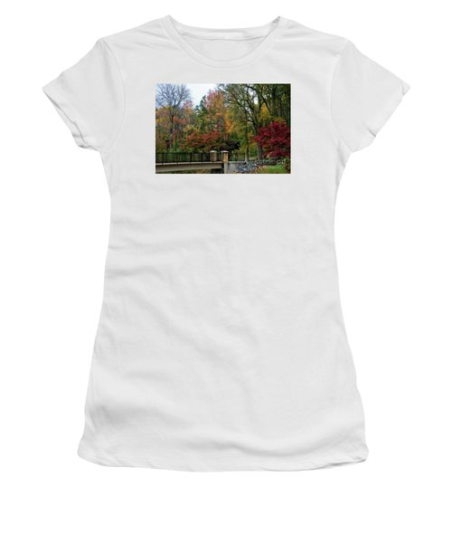 Foot Bridge In The Fall Women's T-Shirt