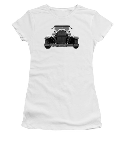 Ford Coupe Head On In Black And White Women's T-Shirt