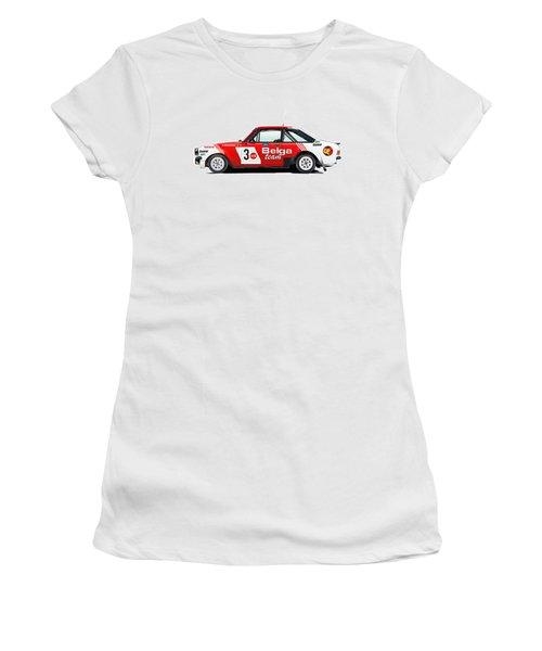 Ford Escort Rs Belga Team Illustration Women's T-Shirt (Junior Cut) by Alain Jamar