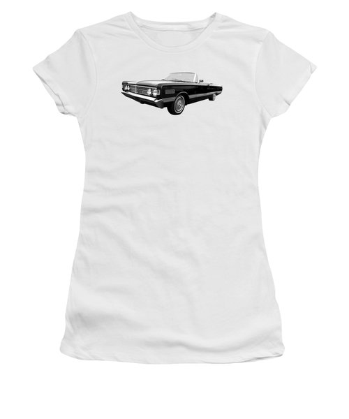 Women's T-Shirt (Junior Cut) featuring the photograph Ford Mercury Park Lane 1966 Black And White by Gill Billington