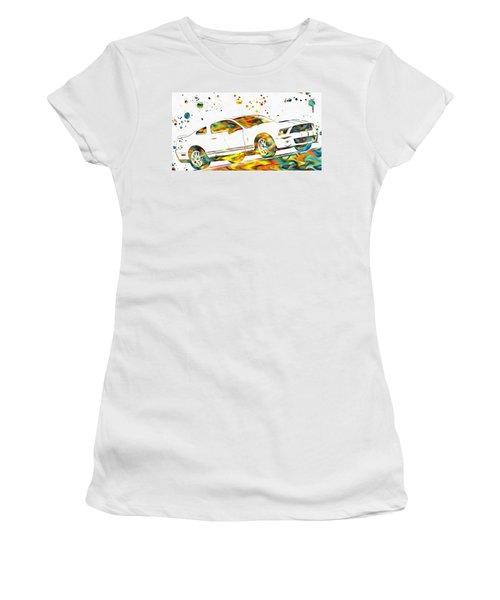 Ford Mustang Paint Splatter Women's T-Shirt