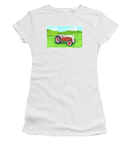 Ford Tractor 1941 Women's T-Shirt (Junior Cut) by Jack Pumphrey
