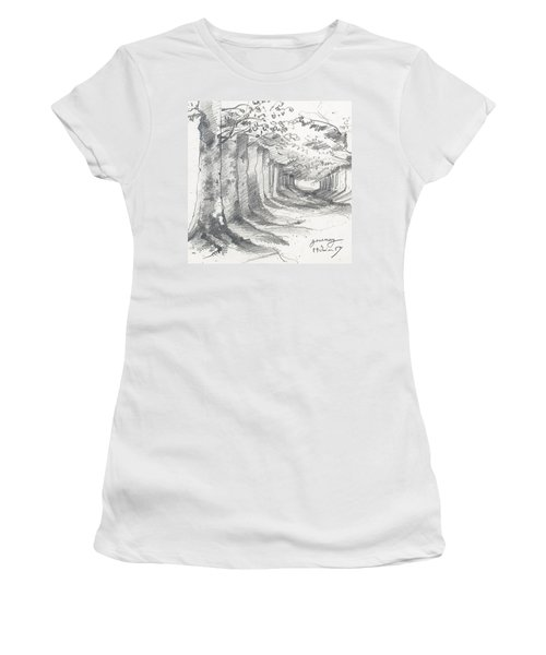 Forest Lane At Gournay Women's T-Shirt