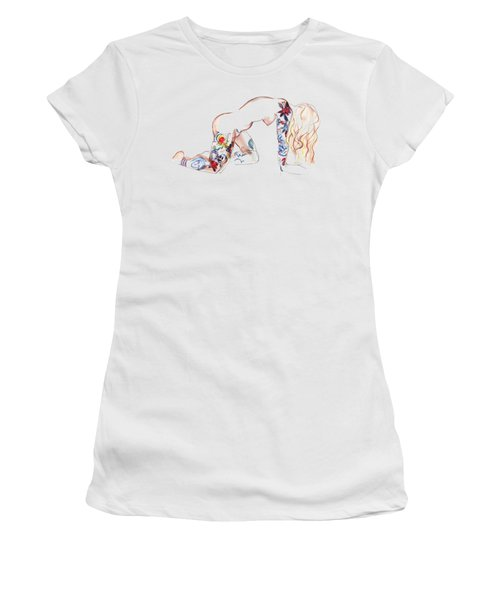 Forever Amber - Tattoed Nude Women's T-Shirt (Athletic Fit)