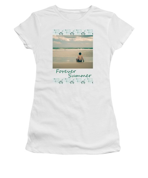 Women's T-Shirt (Junior Cut) featuring the photograph Forever Summer 7 by Linda Lees