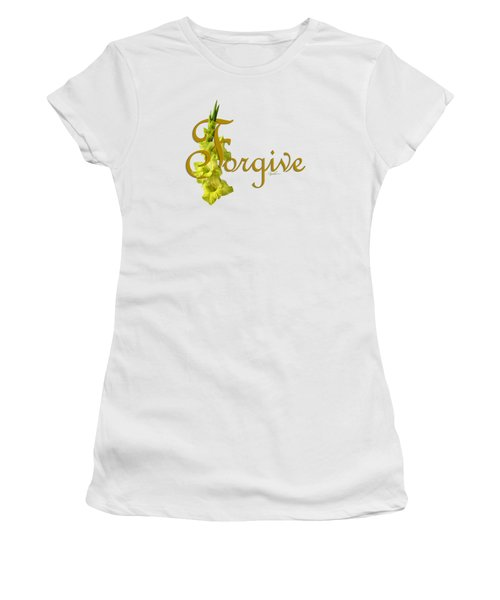 Women's T-Shirt (Junior Cut) featuring the digital art Forgive by Ann Lauwers