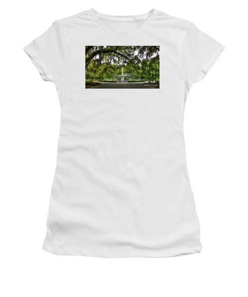 Forsyth Park Fountain Historic Savannah Georgia Women's T-Shirt (Athletic Fit)