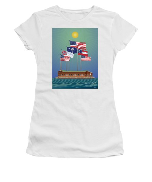 Fort Sumter, Charleston, Sc Women's T-Shirt (Athletic Fit)