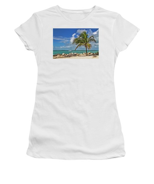 Women's T-Shirt (Athletic Fit) featuring the photograph Fort Zachary Taylor State Park - Find Paradise In Key West Florida  by Bob Slitzan