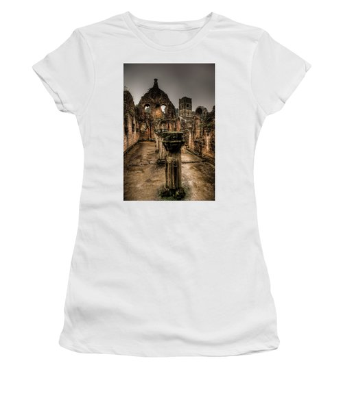 Fountains Abbey In Pouring Rain Women's T-Shirt