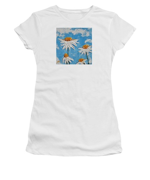 Four Daisies Women's T-Shirt (Athletic Fit)