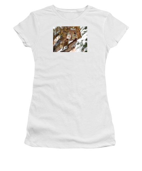 Four Sparrows Women's T-Shirt (Athletic Fit)