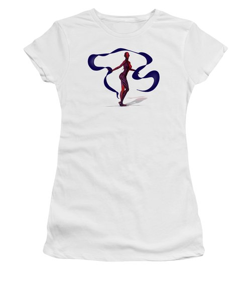 Fractal Jess With Ribbon Women's T-Shirt (Athletic Fit)