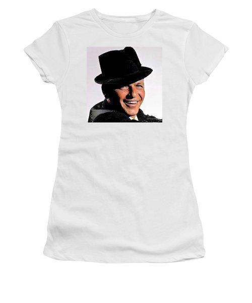 Frank Sinatra Women's T-Shirt (Junior Cut) by Rod Jellison
