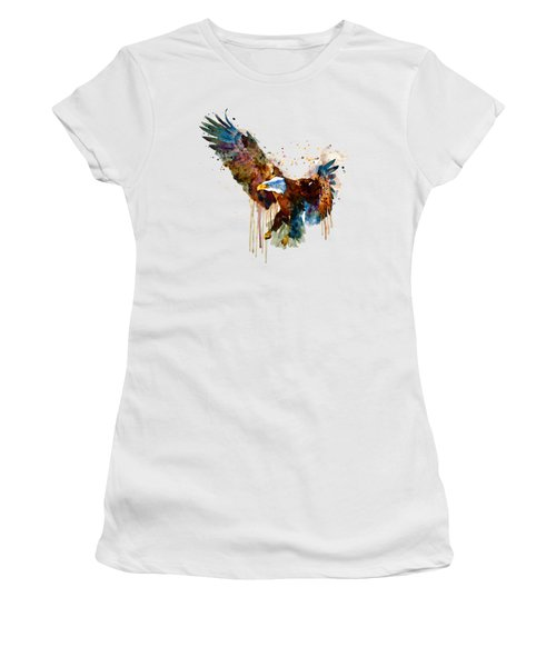 Free And Deadly Eagle Women's T-Shirt (Junior Cut) by Marian Voicu