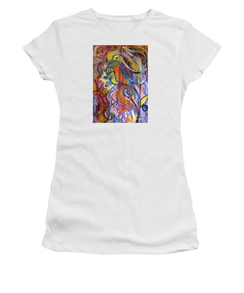 Free As A Bird  Women's T-Shirt (Junior Cut) by Corina  Stupu Thomas