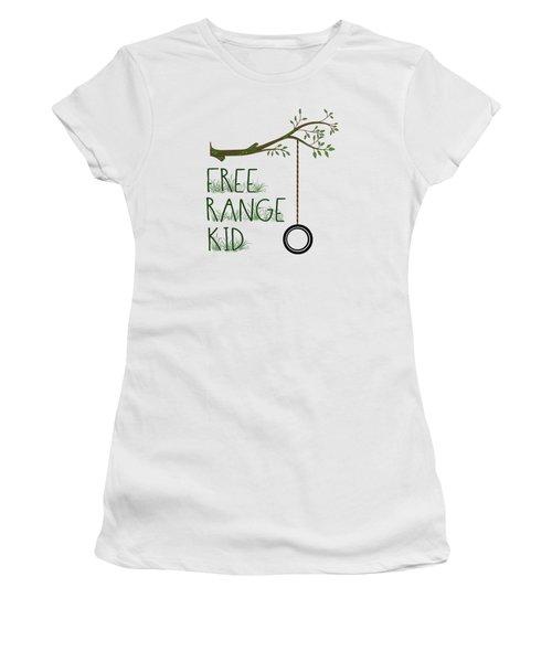 Free Range Kid Women's T-Shirt (Athletic Fit)