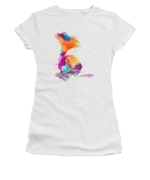 French Horn Watercolor Musical Instruments Women's T-Shirt (Junior Cut) by Justyna JBJart