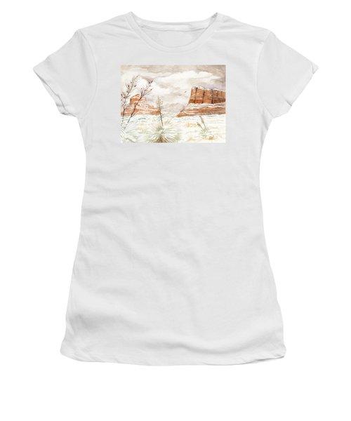 Fresh Snow On Bell Rock Women's T-Shirt
