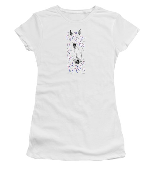 Friesian Horse Nobility Women's T-Shirt (Athletic Fit)