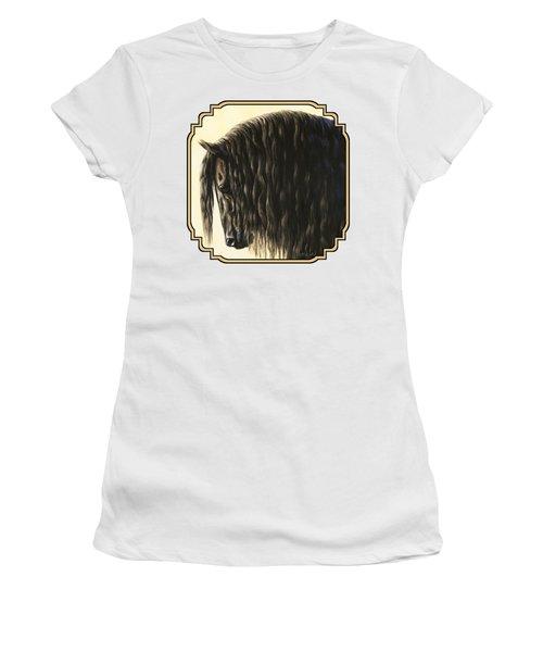 Friesian Horse Phone Case Women's T-Shirt (Athletic Fit)