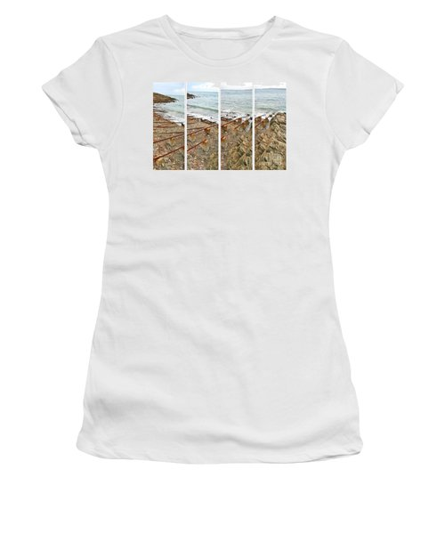 Women's T-Shirt (Athletic Fit) featuring the photograph From Ship To Shore by Stephen Mitchell