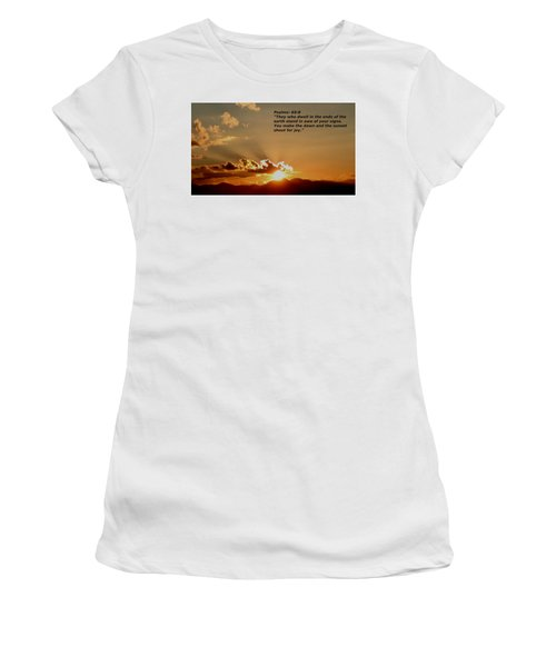 From The East To The West Women's T-Shirt (Athletic Fit)