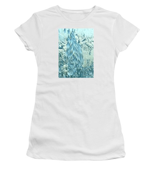 Frosty Forest Women's T-Shirt (Athletic Fit)