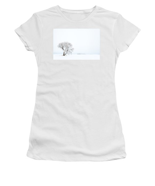 Frozen Morning Women's T-Shirt (Junior Cut) by Yvette Van Teeffelen
