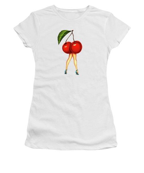 Fruit Stand- Cherry Women's T-Shirt (Junior Cut) by Kelly Gilleran