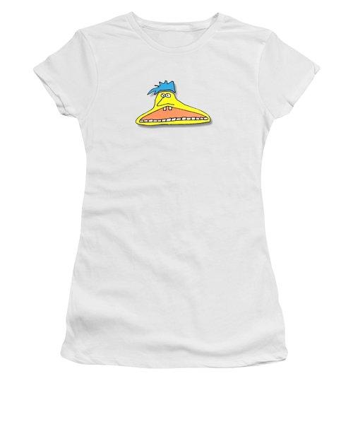 Fu Party People - Peep 026 Women's T-Shirt (Junior Cut) by Dar Freeland